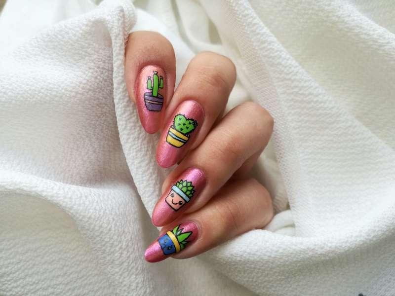 Kaktusowe paznokcie nail art by MaliNaila
