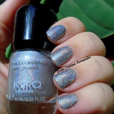 kiko holographic Silver 001 Swatch by Dora Cristina Fernandes