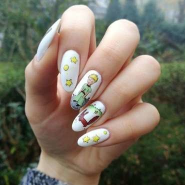 The little prince nail art by MaliNaila