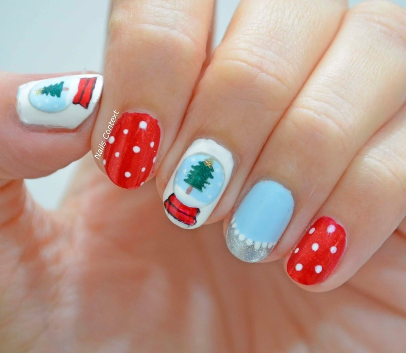 Snowglobe nail art by NailsContext