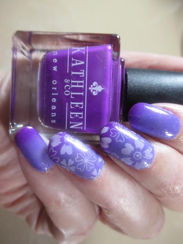 Purple Mood nail art by NinaB