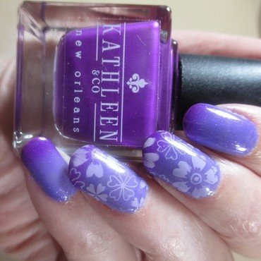 Purple Mood nail art by NinaB