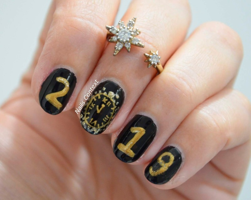 Welcome 2019 nail art by NailsContext