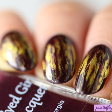 Fiery needle drag nail art by Kerry_Fingertips