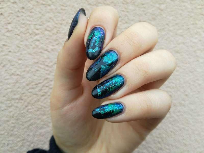 Las i zorze nail art by MaliNaila
