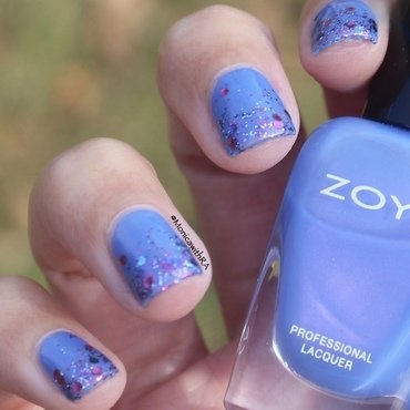 Easy, Festive Glitter Tips nail art by Monica