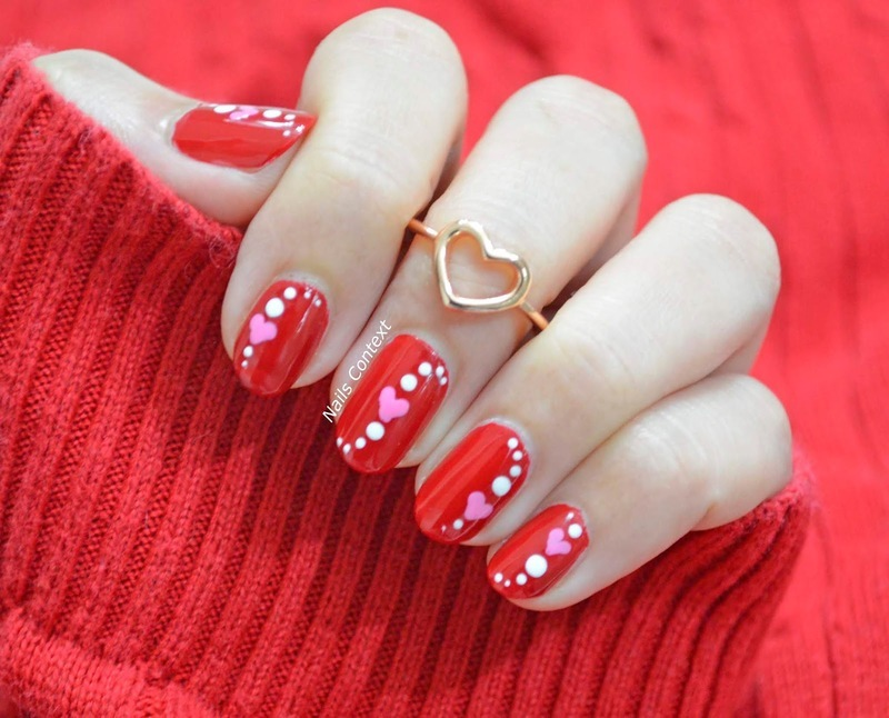 Celebrate Love nail art by NailsContext
