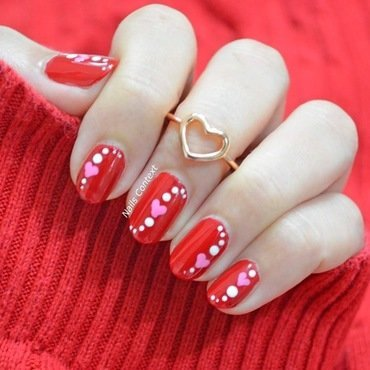 Celebrate Love nail art by NailsContext