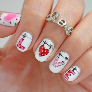 LOVE nails  nail art by NailsContext
