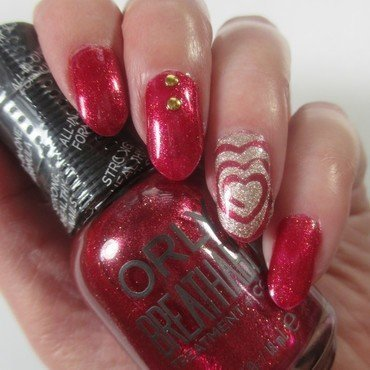 Another Valentine Mani nail art by NinaB