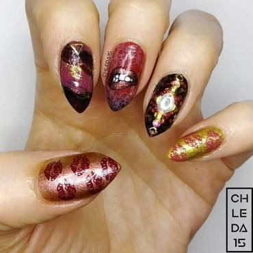 2019 #6 nail art by chleda15