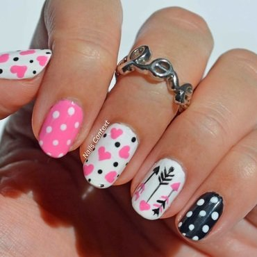 Cupid's Arrows  nail art by NailsContext