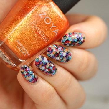 Textured dotticure nail art by Kerry_Fingertips