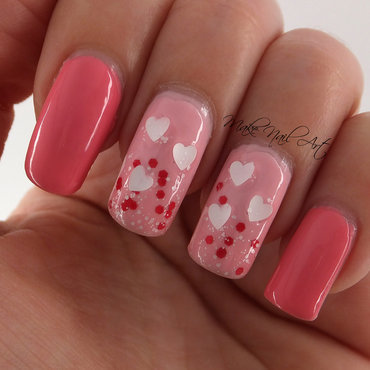 Valentine's Day Hearts  nail art by Make Nail Art