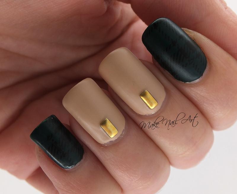 Green And Nude  nail art by Make Nail Art
