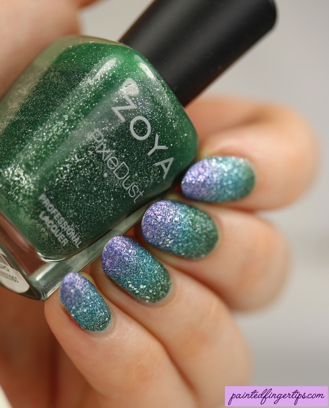 Textured gradient nail art by Kerry_Fingertips