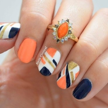 Geometric Nails  nail art by NailsContext
