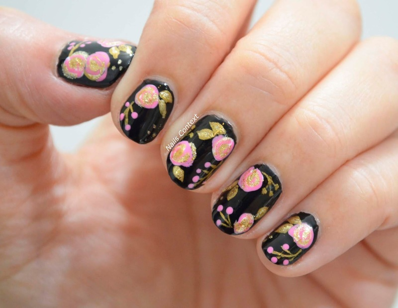 Florals  nail art by NailsContext