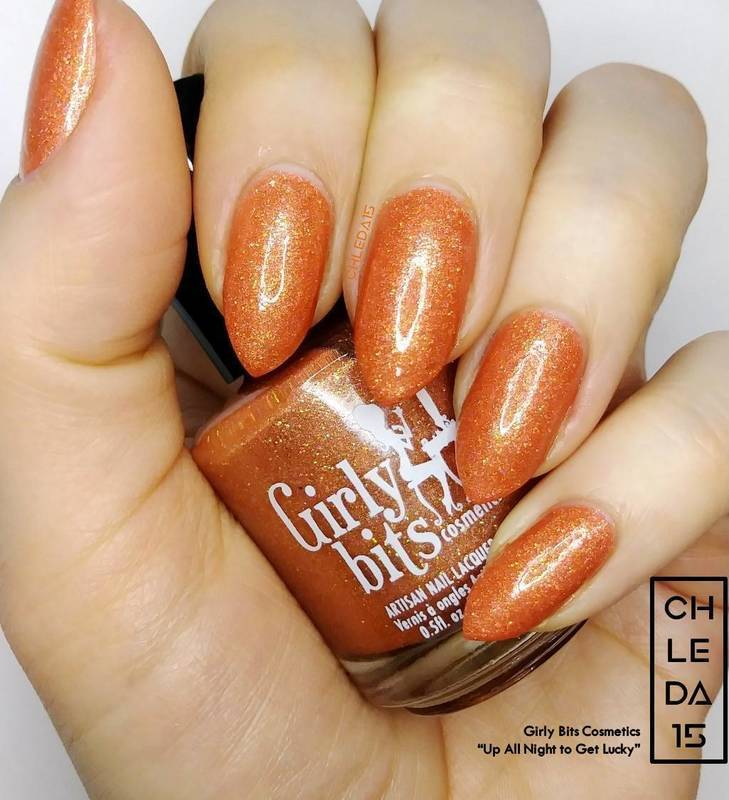 """Girly Bits Cosmetics """"Up All Night to Get Lucky"""" Swatch by chleda15"""