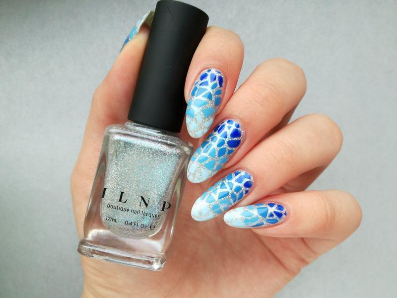Niebieskie paznokcie nail art by MaliNaila