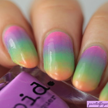 Candy shop gradient nail art by Kerry_Fingertips