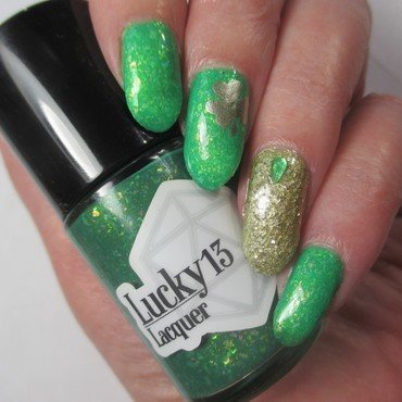 St. Patricks Day 19 nail art by NinaB