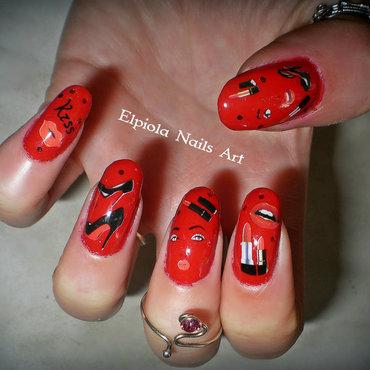 Louis Vuitton & Glamour nails  nail art by Elpiola Lluka