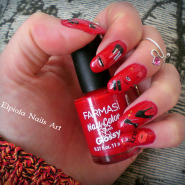 Louis Vuitton & Glamour nails   nail art by Elpiola Lluka
