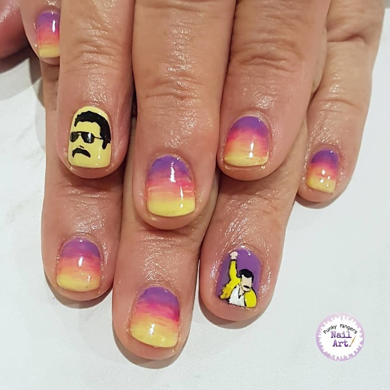 Bohemian rhapsody  nails nail art by Funky fingers nail art