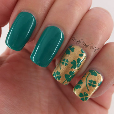 St. Patrick's Day Four Leaf Clover nail art by Make Nail Art