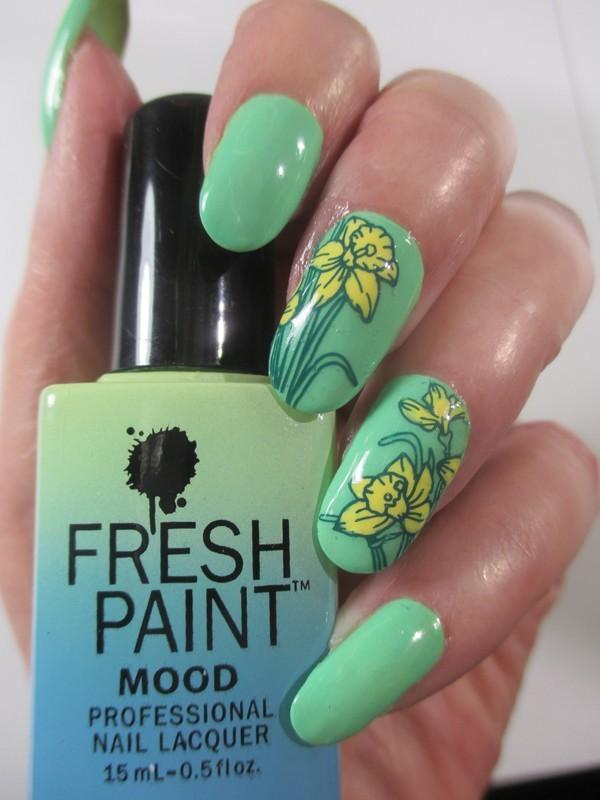 Daffodils nail art by NinaB