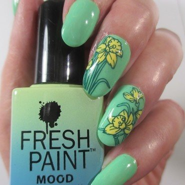 Daffodils nail art by NinaB