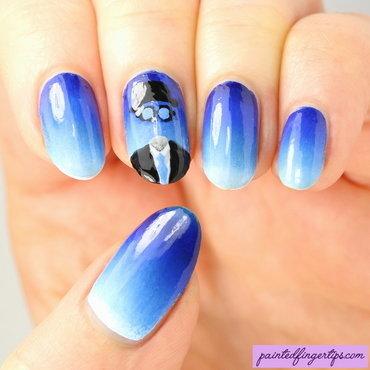 The invisible man nail art gradient thumb370f