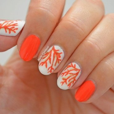Coral Nails nail art by NailsContext