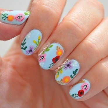First Day of Spring nail art by NailsContext