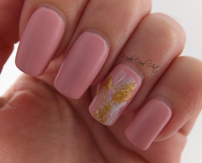 Pastel Pink nail art by Make Nail Art