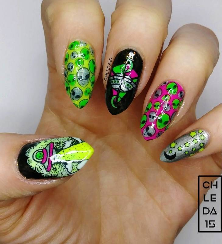 2019 #13 nail art by chleda15
