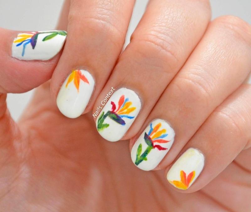 Bird of Paradise nail art by NailsContext