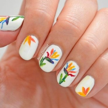 Bird of Paradise nail art by NailsContext