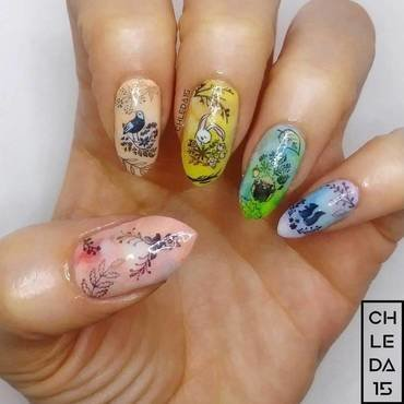 2019 #14 nail art by chleda15