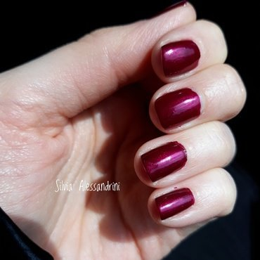 Kiko 495 pearly vanda burgundy Swatch by SilvieTepes