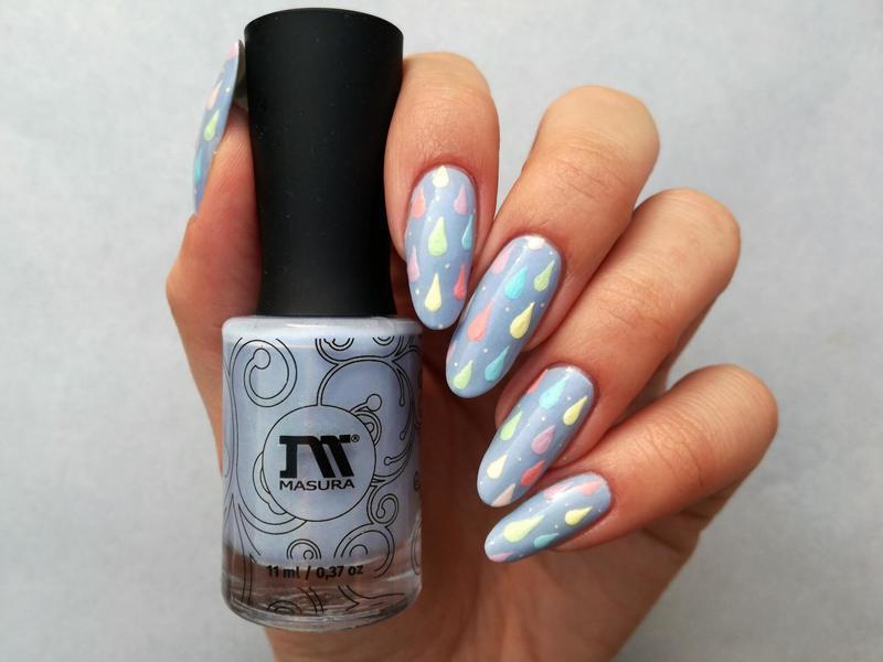 Deszczowe paznokcie nail art by MaliNaila