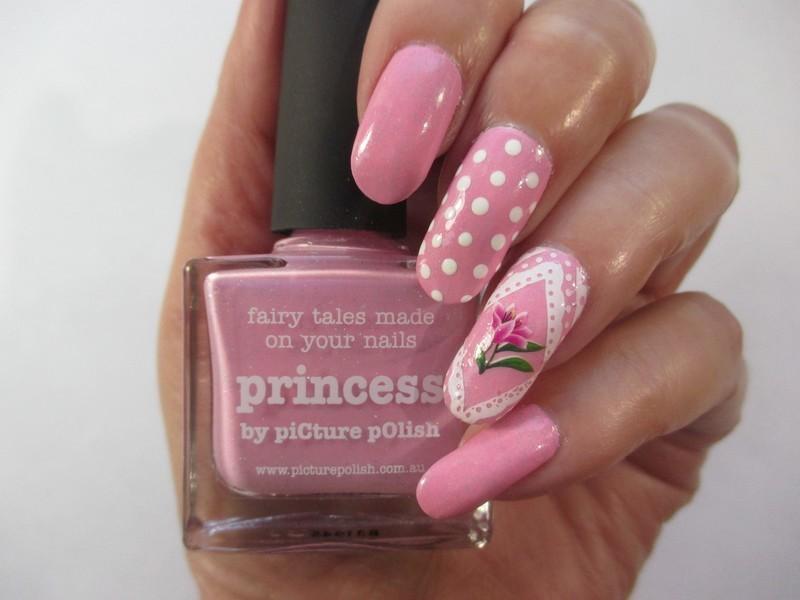 Easter Lily nail art by NinaB