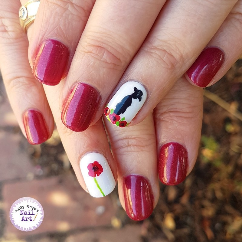 Anzac day nail art by Funky fingers nail art