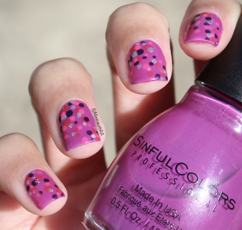 Easy Valentine's Day Dotticure nail art by Monica
