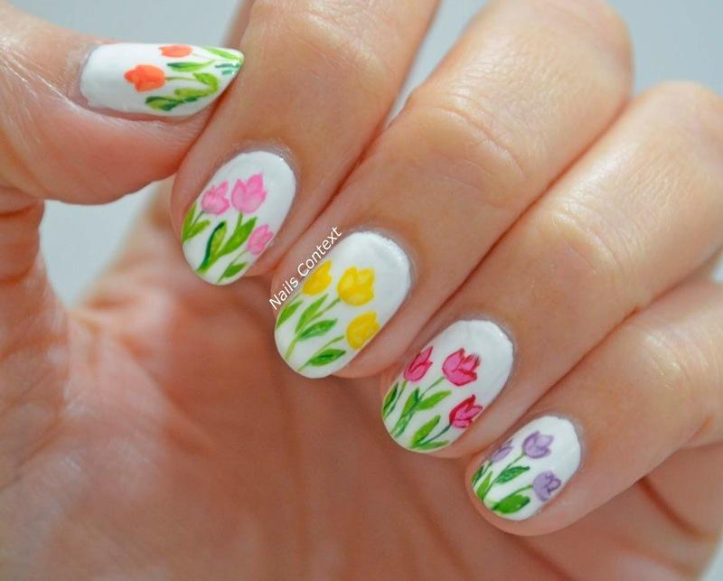 Tulip Nails  nail art by NailsContext