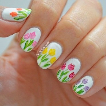 Tulip Nails  nail art by NailsContext