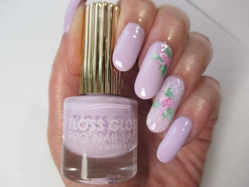 Pastel Rose nail art by NinaB