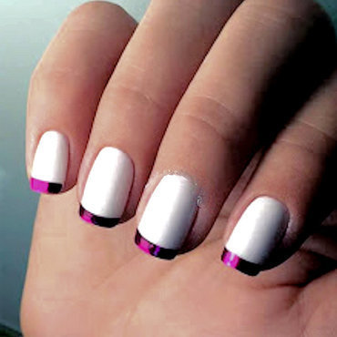 French manicure nail designs purple metallic tips 500x500 thumb370f