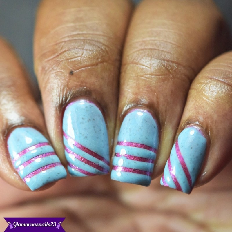 Clairestelle8 May 2019 Day 4 - Stripes nail art by glamorousnails23
